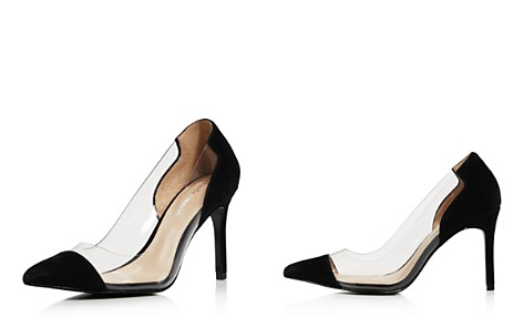 Charles David Women's Genuine Suede Illusion Pointed Toe Pumps - Bloomingdale's_2