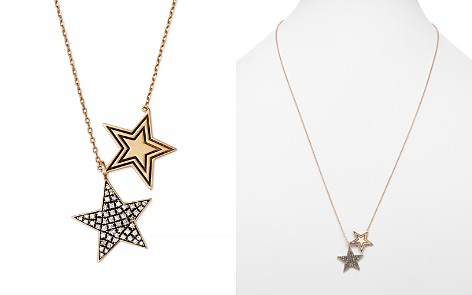 """SUEL Blackened 18K Yellow Gold Twin Star Diamond Necklace, 27"""" - Bloomingdale's_2"""