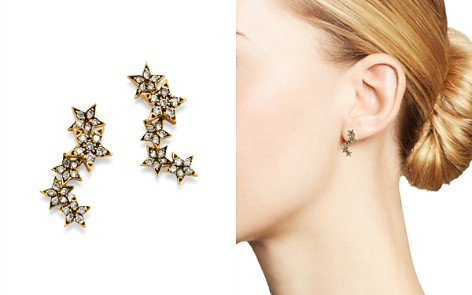 SUEL Blackened 18K Yellow Gold Twinkle Star Diamond Earrings - Bloomingdale's_2