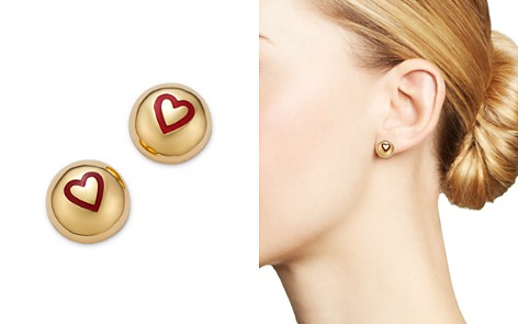 SUEL 14K Yellow Gold Domed Heart Earrings - Bloomingdale's_2