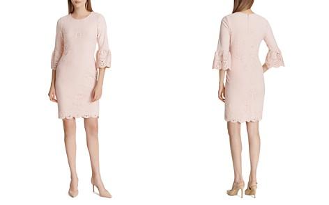 Calvin Klein Laser-Cut Bell-Sleeve Dress - Bloomingdale's_2