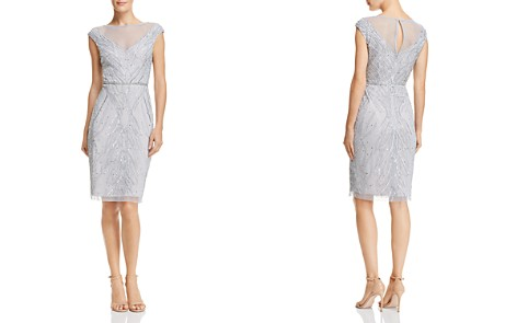Adrianna Papell Embellished Illusion Dress - Bloomingdale's_2