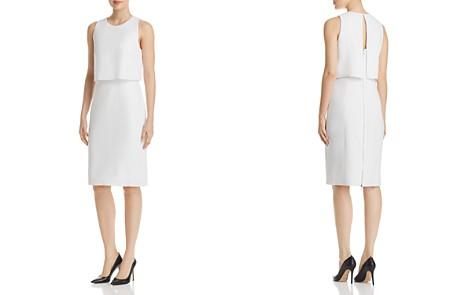 Elie Tahari Kristine Layered-Look Shift Dress - Bloomingdale's_2