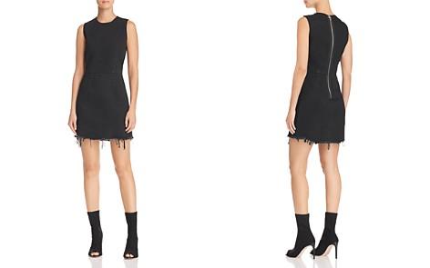 T by Alexander Wang Frayed-Hem Denim Dress - Bloomingdale's_2