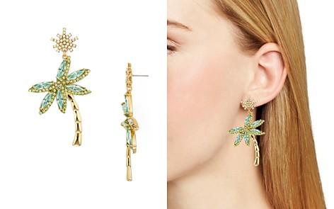 kate spade new york Pavé Palm Tree Drop Earrings - Bloomingdale's_2