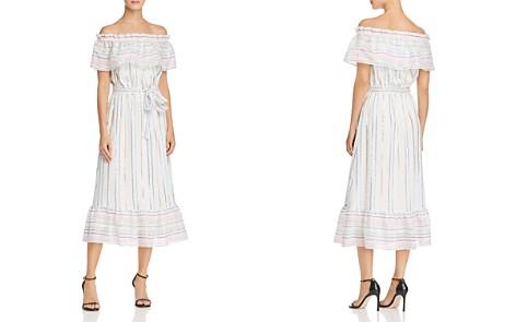 AQUA Metallic Rainbow-Stripe Midi Dress - 100% Exclusive - Bloomingdale's_2