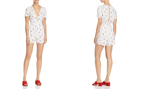 AQUA Cherry Print Romper - 100% Exclusive - Bloomingdale's_2