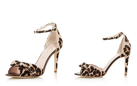 kate spade new york Women's Ismay Leopard Print Calf Hair High-Heel Bow Sandals - Bloomingdale's_2