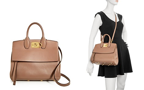 Salvatore Ferragamo Studio Medium Leather Satchel - Bloomingdale's_2