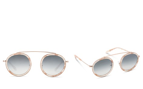 Krewe Conti Women's Mirrored Brow Bar Round Sunglasses, 46mm - Bloomingdale's_2