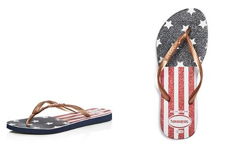 havaianas Slim USA Glitter Flip-Flops - Bloomingdale's_2