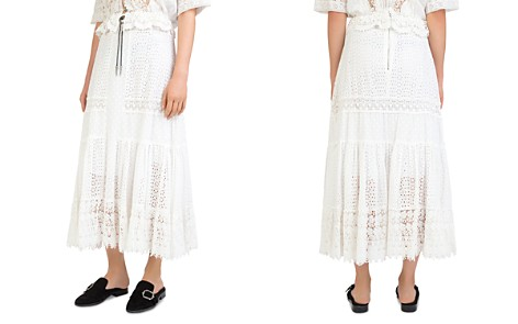 The Kooples English Embroidered Eyelet Cotton Midi Skirt - Bloomingdale's_2