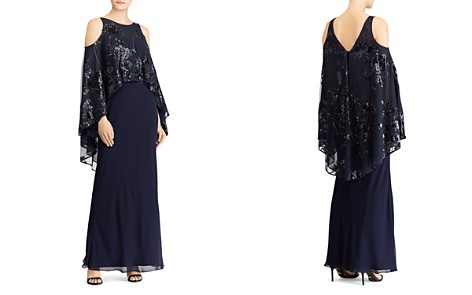 Lauren Ralph Lauren Embellished Overlay Cold-Shoulder Gown - Bloomingdale's_2