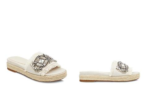 Marc Fisher LTD. Women's Jelly Embellished Linen Espadrille Slide Sandals - Bloomingdale's_2