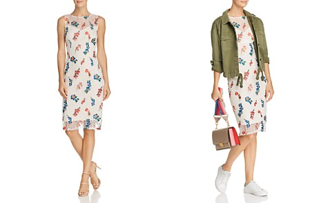 Adrianna Papell Floral Embroidered Lace Dress - Bloomingdale's_2