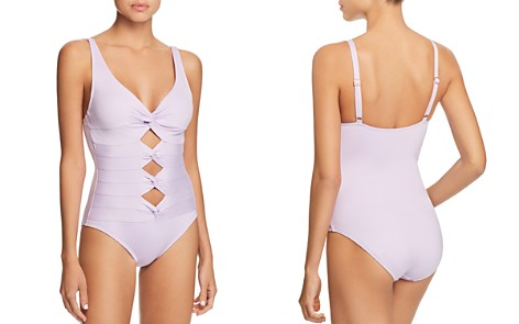 Carmen Marc Valvo Coastal Solid One Piece Swimsuit - Bloomingdale's_2