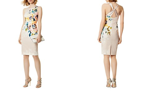 KAREN MILLEN Crisscross Floral Print Sheath Dress - Bloomingdale's_2