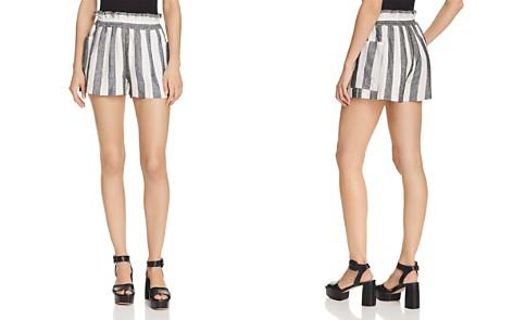 AQUA Ruffled Striped Shorts - 100% Exclusive - Bloomingdale's_2