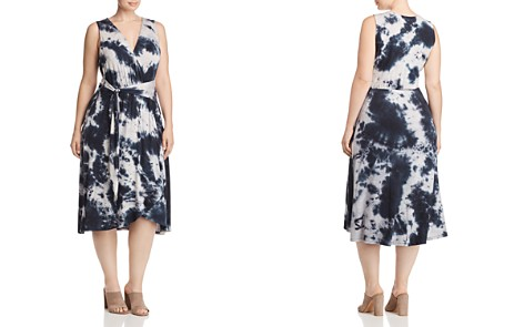 B Collection by Bobeau Curvy Rowan Tie-Dyed Faux-Wrap Dress - Bloomingdale's_2