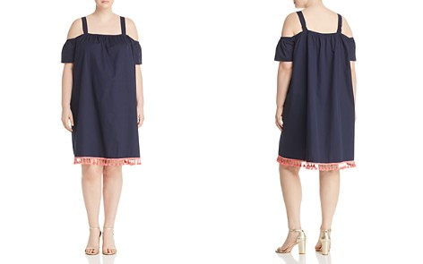 JUNAROSE Plus Olazi Cold-Shoulder Tassel Dress - Bloomingdale's_2