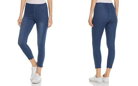 Lyssé Scalloped Crop Denim Leggings - Bloomingdale's_2