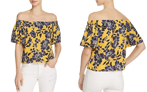 Olivaceous Floral Print Off-the-Shoulder Top - Bloomingdale's_2