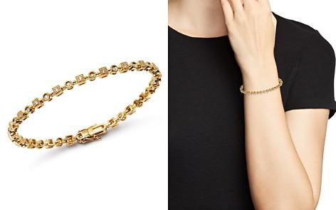 KC Designs 14K Yellow Gold Geometric Diamond Link Bracelet - Bloomingdale's_2