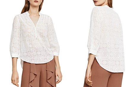 BCBGMAXAZRIA Kalie Embroidered Top - Bloomingdale's_2