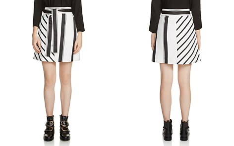 Maje Jonson Striped Belted A-Line Skirt - Bloomingdale's_2