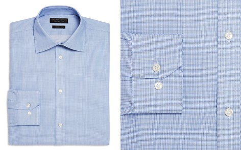 The Men's Store at Bloomingdale's Textured Micro Check Regular Fit Dress Shirt - 100% Exclusive_2