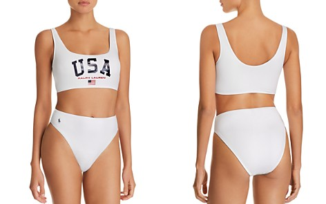 Polo Ralph Lauren Classics Bralette Bikini Top & Solid High Waist Bikini Bottom - Bloomingdale's_2