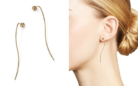 Bloomingdale's Ball Hook Threader Earrings in 14K Yellow Gold - 100% Exclusive_2