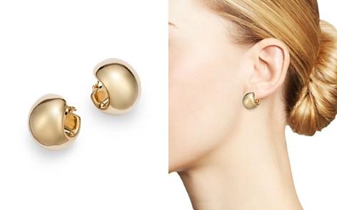 Bloomingdale's Wide Huggie Hoop Earrings in 14K Yellow Gold - 100% Exclusive_2