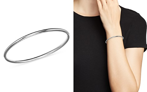 Bloomingdale's Polished Bangle in 14K White Gold - 100% Exclusive_2