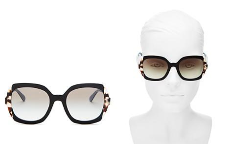 Prada Women's Etiquette Square Sunglasses, 54mm - Bloomingdale's_2