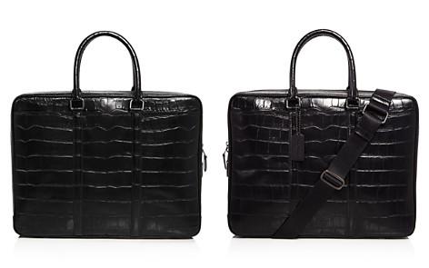 COACH Metropolitan Croc Embossed Leather Slim Briefcase - Bloomingdale's_2