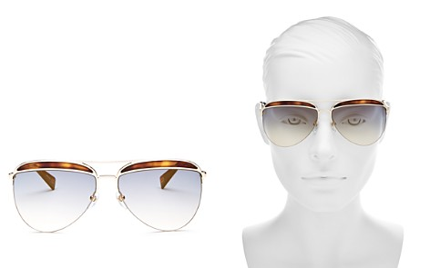 MARC JACOBS Women's Brow Bar Aviator Sunglasses, 61mm - Bloomingdale's_2