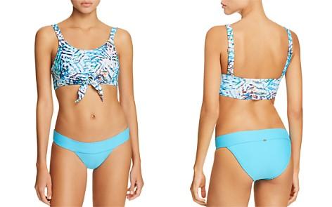 PilyQ Knotted Crop Bikini Top & Banded Full Bikini Bottom - Bloomingdale's_2