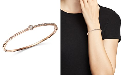 Bloomingdale's Diamond Flower Station Bangle in 14K Rose Gold, 0.33 ct. t.w. - 100% Exclusive _2