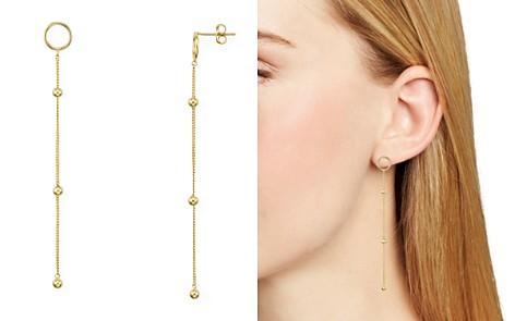 Argento Vivo Ava Gold Open Ring Linear Drop Earrings - Bloomingdale's_2