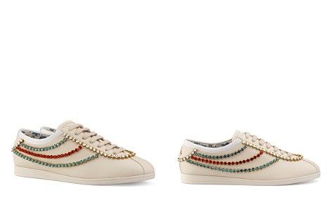 Gucci Women's Falacer Leather & Crystal Trim Sneakers - Bloomingdale's_2