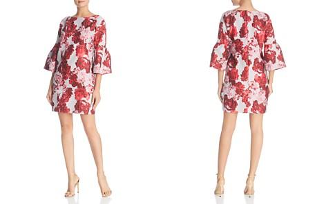 Badgley Mischka Floral Brocade Bell-Sleeve Dress - Bloomingdale's_2