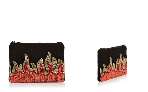 From St Xavier Beaded Velvet Flames Zip Pouch - Bloomingdale's_2