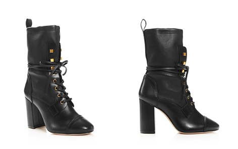 Stuart Weitzman Women's Veruka Stretch Leather Lace Up Combat Booties - Bloomingdale's_2
