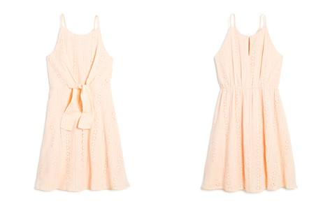 AQUA Girls' Tie-Front Eyelet Dress, Big Kid - 100% Exclusive - Bloomingdale's_2