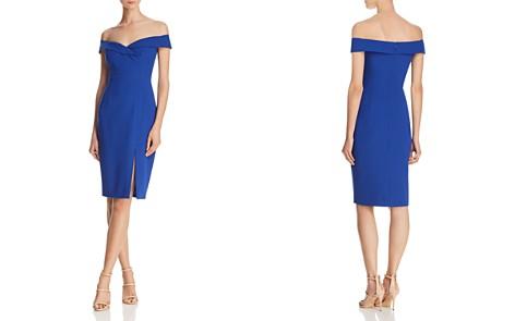 Black Halo Hepburn Off-the-Shoulder Dress - Bloomingdale's_2