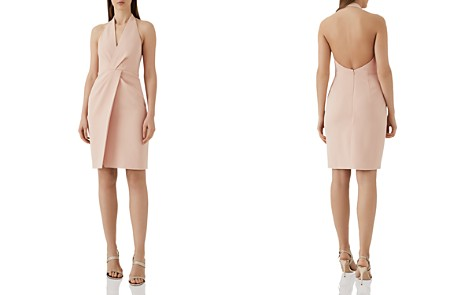 REISS Yuma Twist-Front Halter Dress - Bloomingdale's_2