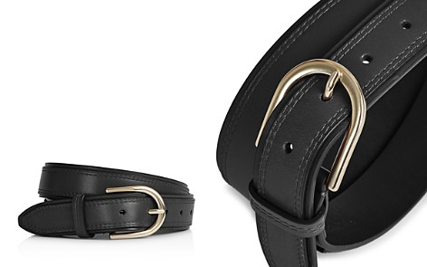 REISS Viola Double Layer Leather Belt - Bloomingdale's_2