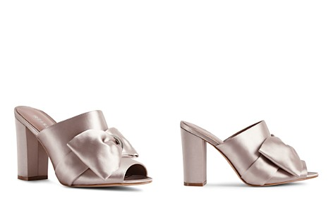 REISS Women's Molly Bow-Detail Satin Slide Sandals - Bloomingdale's_2