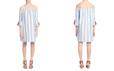 CATHERINE Catherine Malandrino Randee Striped Off-the-Shoulder Dress - Bloomingdale's_2